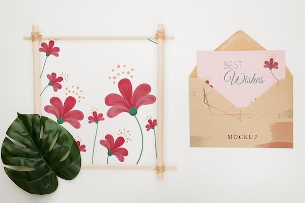 Maquette De Concept D'invitation De Mariage Psd gratuit