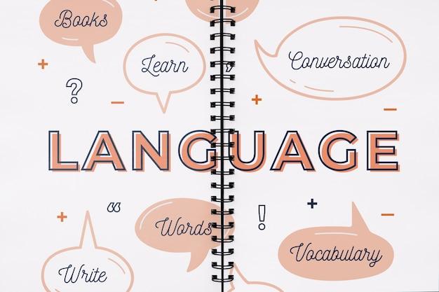 Maquette De Concept De Langue Psd gratuit