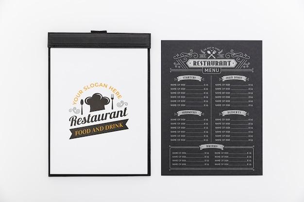 Maquette De Concept De Menu De Restaurant Psd gratuit
