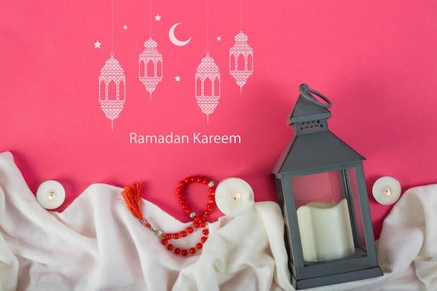 Maquette avec le concept de ramadan Psd gratuit