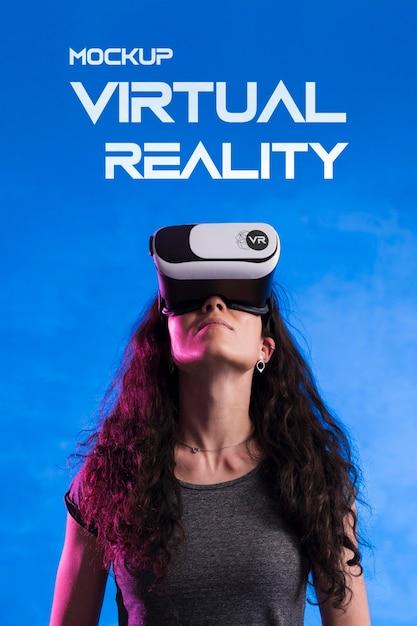 Maquette De Concept Technologique De Réalité Virtuelle PSD Premium