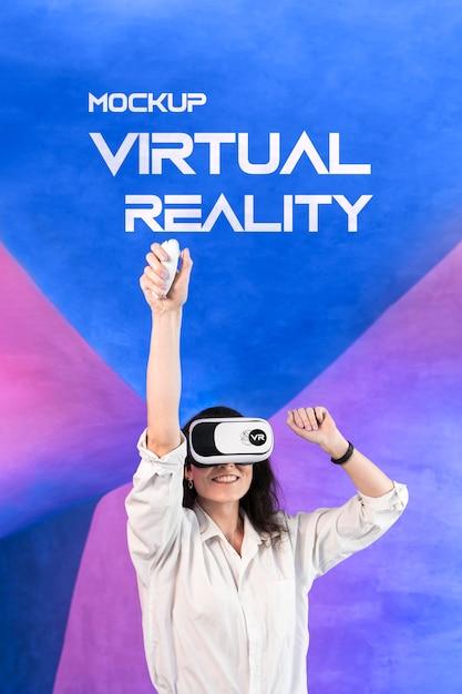 Maquette De Concept Technologique De Réalité Virtuelle Psd gratuit