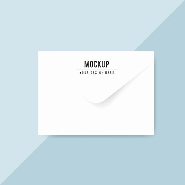 Maquette de conception d'enveloppe en papier ordinaire Psd gratuit