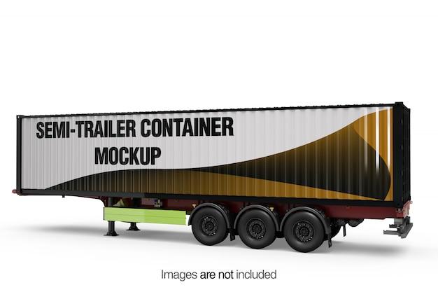Maquette de conteneur de semi-remorque Psd gratuit