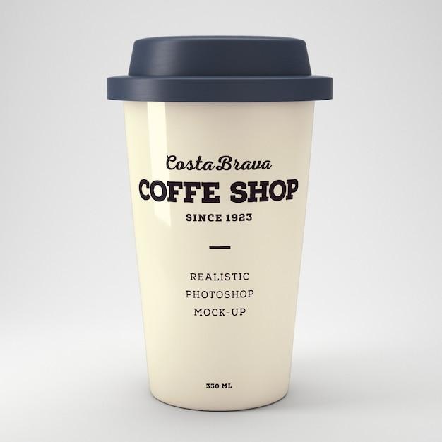 Maquette de coupe de café réaliste Psd gratuit