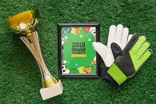 Maquette de coupe du monde de football avec cadre Psd gratuit