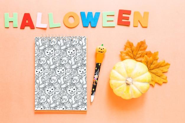 Maquette De Couverture De Livre D Halloween Avec Citrouille