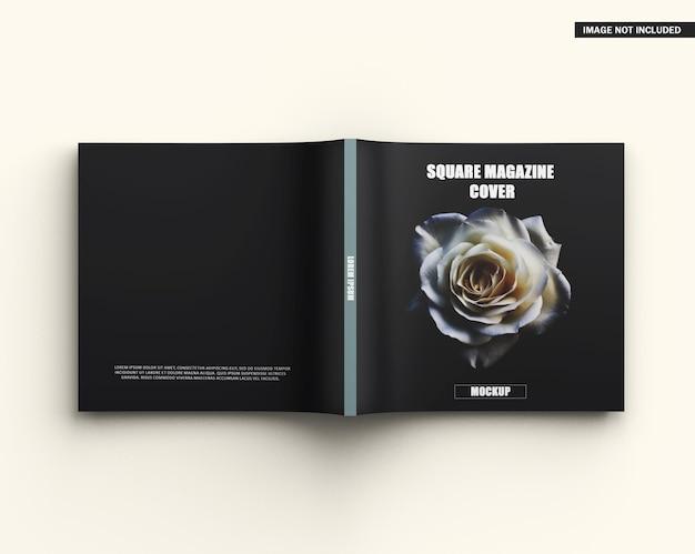 Maquette De Couverture De Magazine Carrée PSD Premium