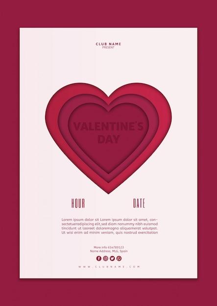 Maquette De Couverture Saint Valentin Psd gratuit