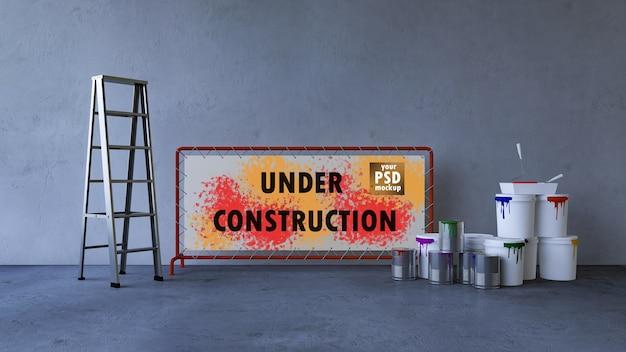 Maquette de design d'intérieur et construction cocept PSD Premium