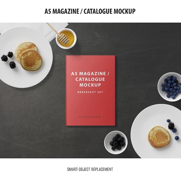 Maquette Du Catalogue De Couvertures De Magazine A5 Psd gratuit