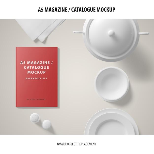 Maquette Du Catalogue Du Magazine A5 Psd gratuit