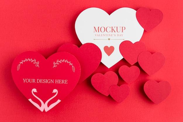 Maquette Du Concept De La Saint-valentin Psd gratuit