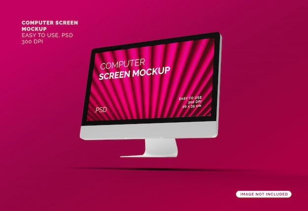 Maquette D'écran D'ordinateur Volant PSD Premium