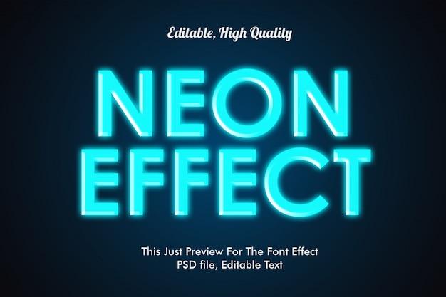 Maquette d'effet de police de style néon PSD Premium