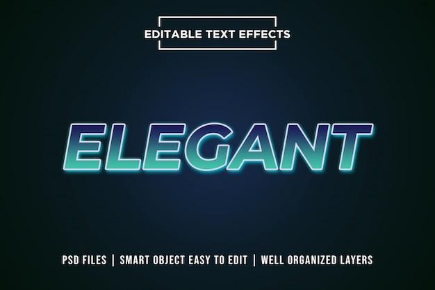 Maquette d'effet de texte modifiable dégradé élégant PSD Premium