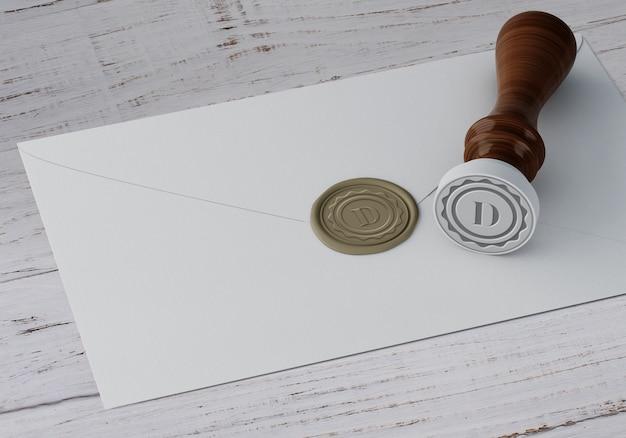 Maquette élégante de timbres ou insignes Psd gratuit