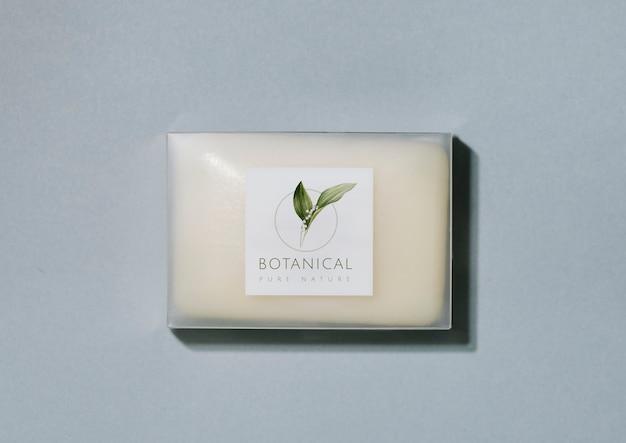 Maquette d'emballage de barre de savon botanique Psd gratuit