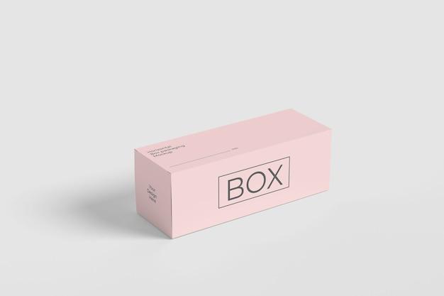 Maquette D'emballage De Boîte Horizontale PSD Premium