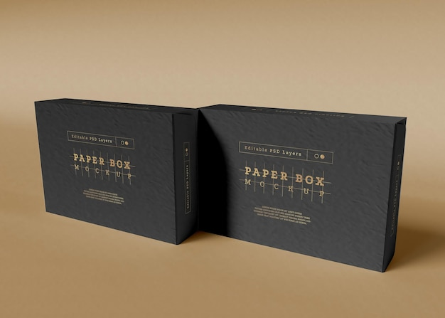 Maquette D'emballage De Boîte En Papier Psd gratuit