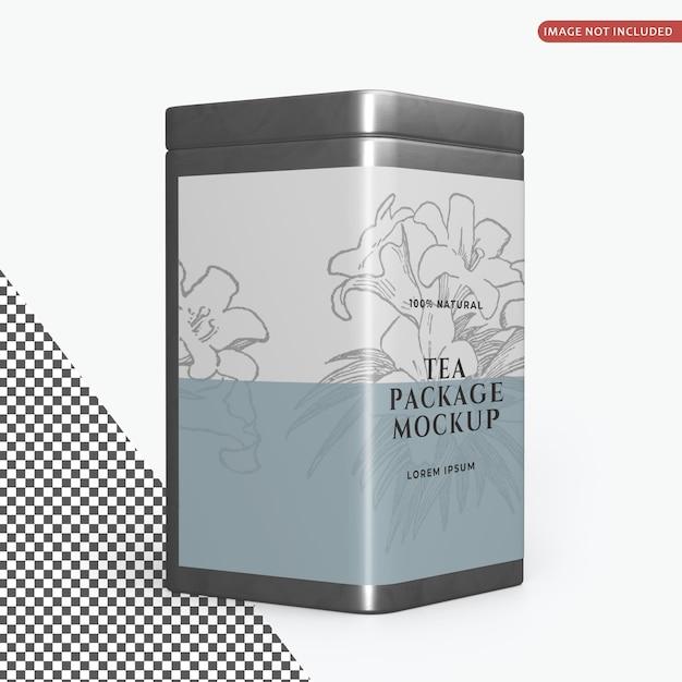 Maquette D'emballage De Boîtes De Conserve Carrées PSD Premium