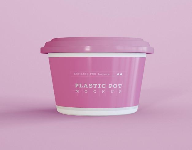 Maquette D'emballage De Pot Psd gratuit