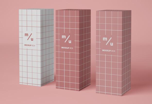 Maquette D'emballage De Trois Boîtes En Papier PSD Premium