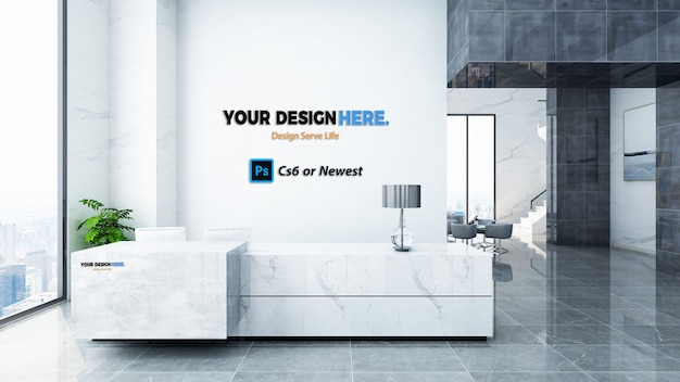 Maquette d'entreprise à la réception PSD Premium