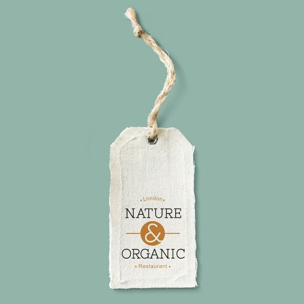 Maquette D'étiquette En Coton Naturel Psd gratuit