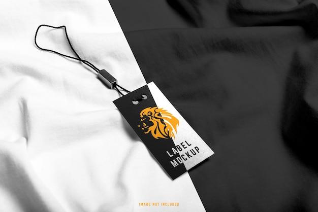 Maquette D'étiquette De T-shirt Gratuit PSD Premium