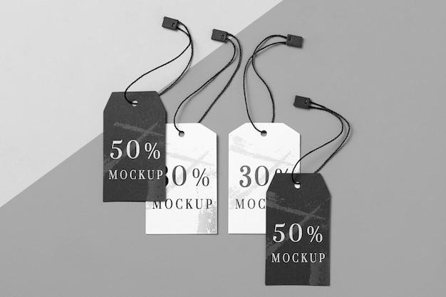 Maquette Des étiquettes De Vêtements Psd gratuit
