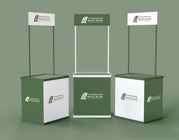 Maquette D'exposants Verts Minimalistes PSD Premium