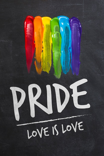 Maquette De Fierté Gay Blackboard Psd gratuit