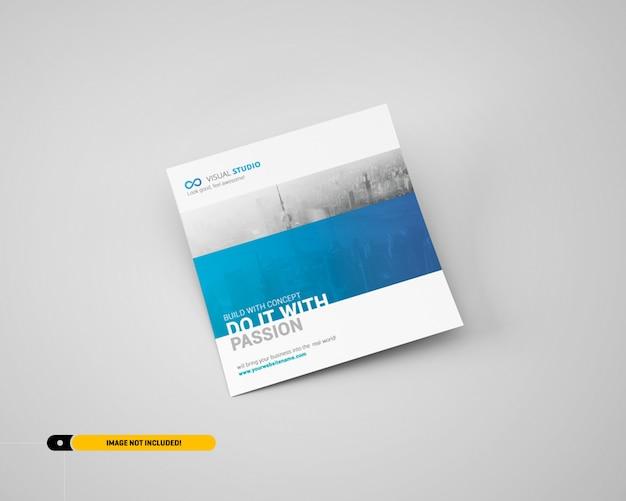 Maquette de flyer carré PSD Premium