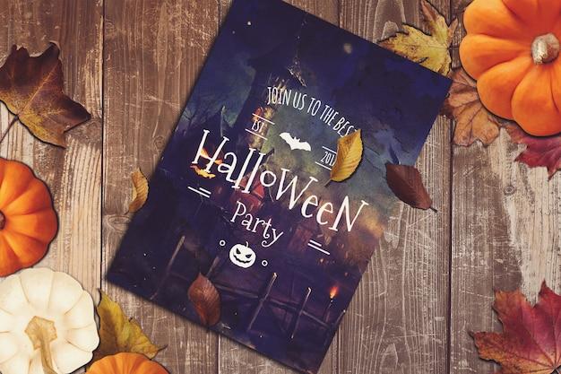 Maquette De Flyer Avec Un Design D'halloween PSD Premium