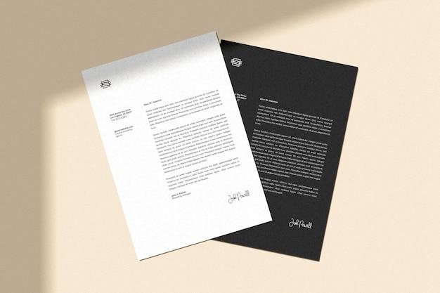 Maquette De Flyer Et Papier à En-tête Psd gratuit