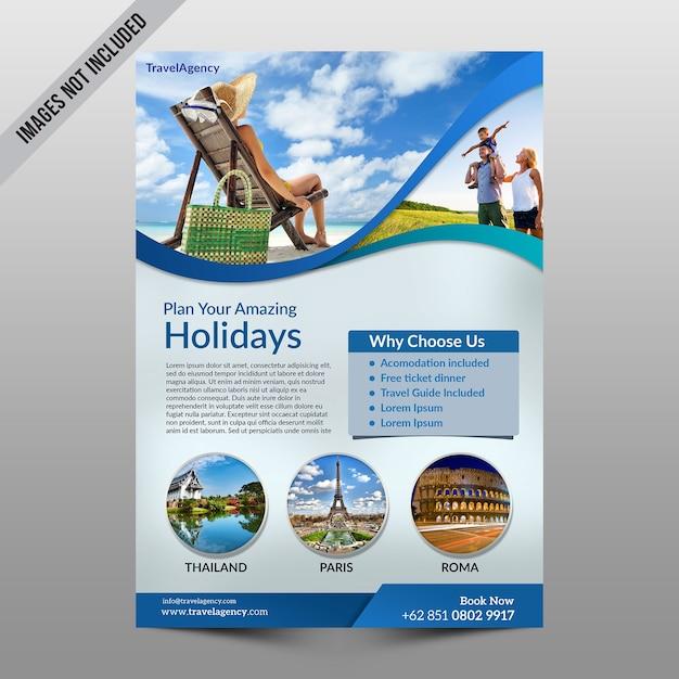 Maquette de flyer de vacances PSD Premium