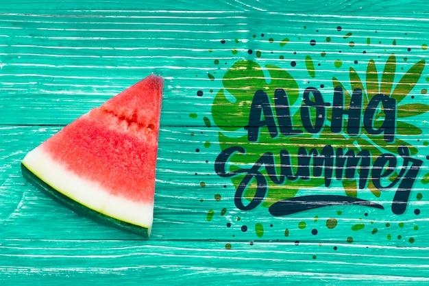 Maquette de fond plat laïque avec des fruits d'été Psd gratuit