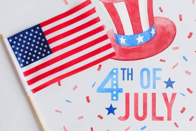 Maquette de fond pour la fête de l'indépendance des états-unis Psd gratuit