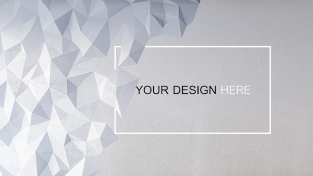 Maquette D'image De Rendu 3d De Mur En Béton PSD Premium