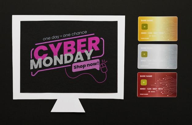 Maquette Informatique Concept Cyber Lundi Psd gratuit