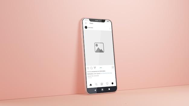 Maquette Instagram De Smartphone Isolée PSD Premium