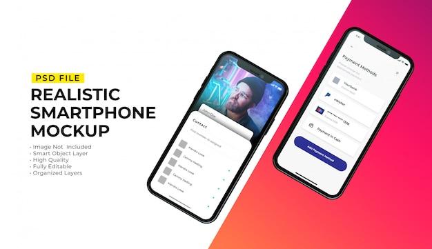 Maquette De L'interface Du Smartphone PSD Premium
