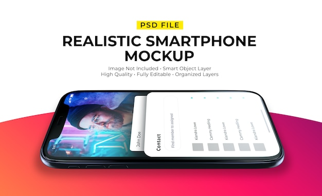 Maquette De L'interface Utilisateur Sur Smartphone PSD Premium