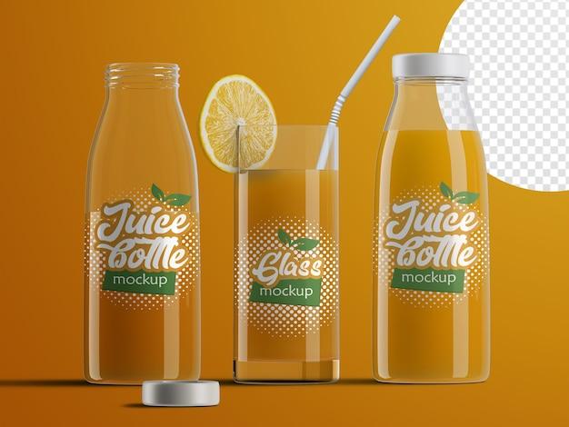 Maquette Isolée Réaliste D'emballage De Bouteille De Jus De Fruits En Plastique PSD Premium