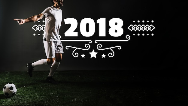 Maquette de joueur de football Psd gratuit
