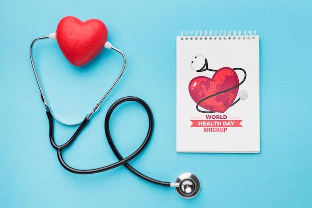 Maquette De La Journée De La Santé à Plat Psd gratuit