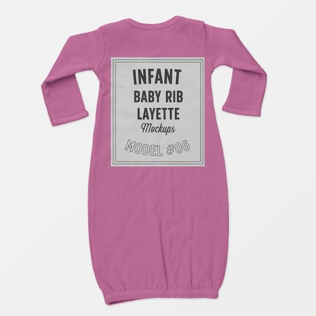 Maquette de layette de côtes pour bébé Psd gratuit