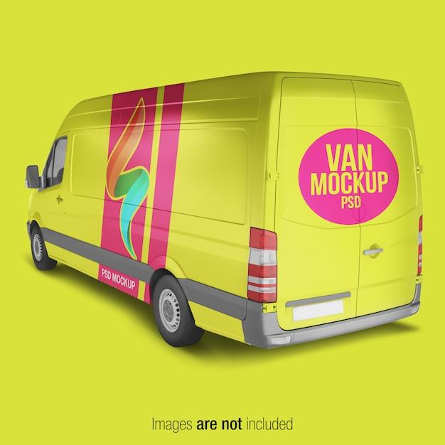 Maquette de livraison jaune PSD Premium