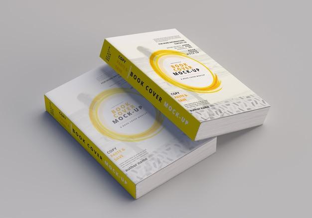 Maquette de livre large à couverture souple PSD Premium